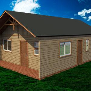 casa prefabricada modelo oregon